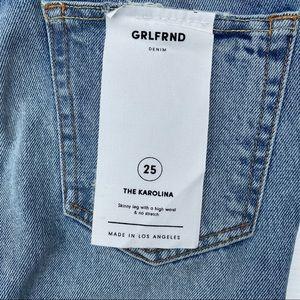 GRLFRND Jeans - GRLFRND Karolina Lace Up High Rise Skinny Jeans 25